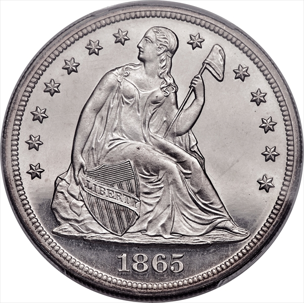 GFRC Open Set Registry - Winesteven 1866-1873 Seated With Motto $1